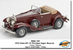 1933 Stutz DV-32 Weyman Super Bearcat Roadster